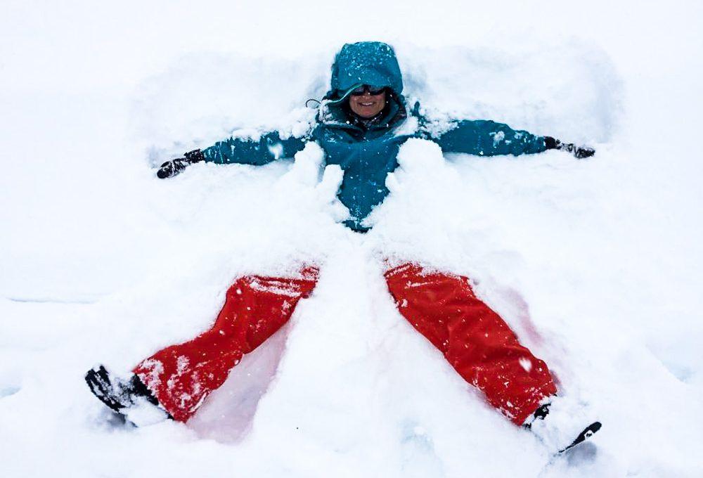Auf Heimaturlaub: Meterhohe Schneemassen und zauberhafte Mandelblüten